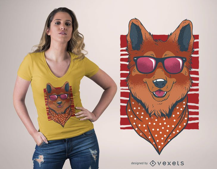 Fashion dog t-shirt design