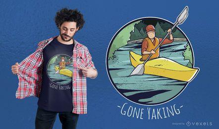 Diseño de camiseta yaking ido