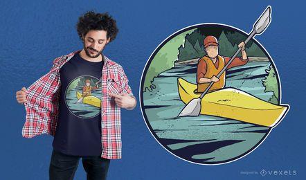 Design de t-shirt de caiaque