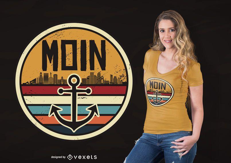 Diseño de camiseta de viaje Moin.