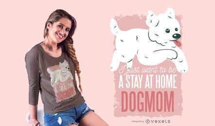 Diseño de camiseta dogmom