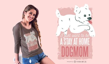Dogmom design de t-shirt