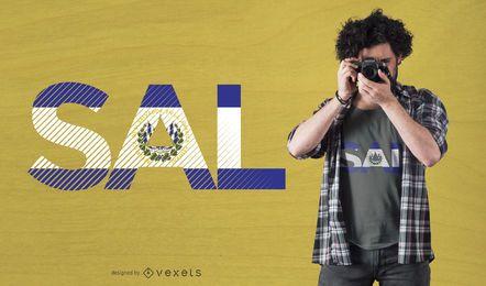 Diseño de camiseta de la bandera de Salvador