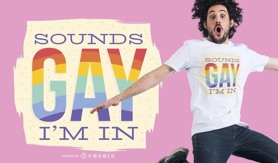 Sonidos diseño de camiseta gay