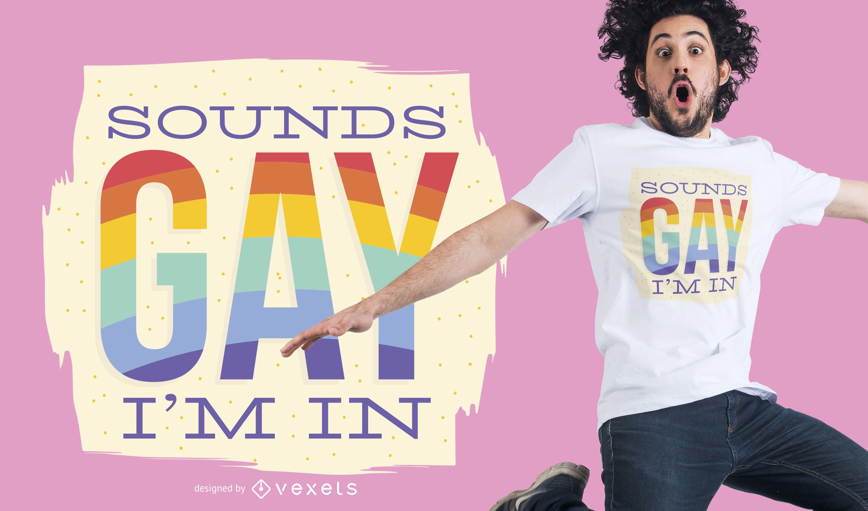 Dise?o de camiseta suena gay