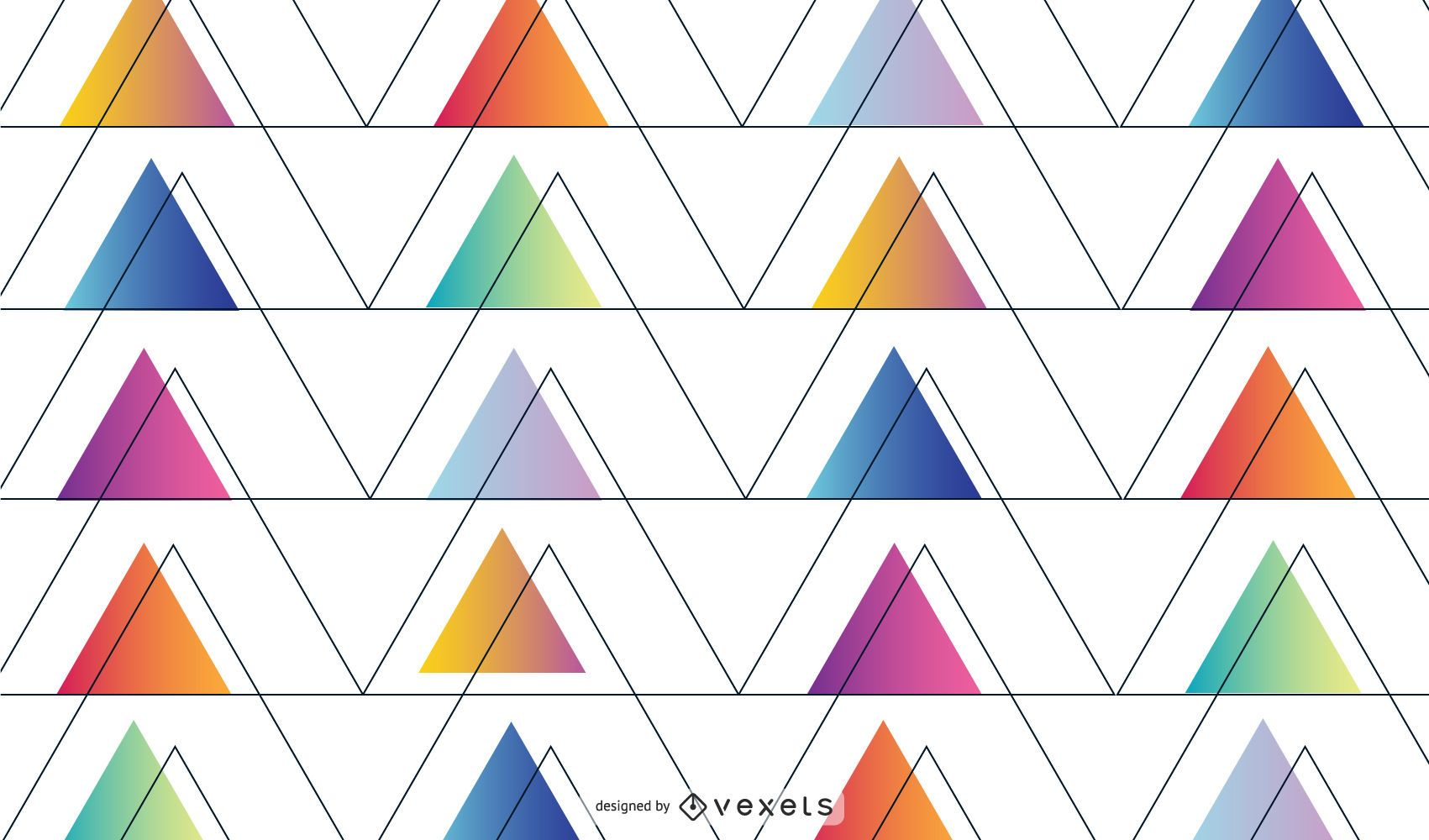Fondo triangular geométrico abstracto