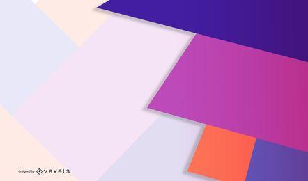 Pastel vs vibrante diseño geométrico