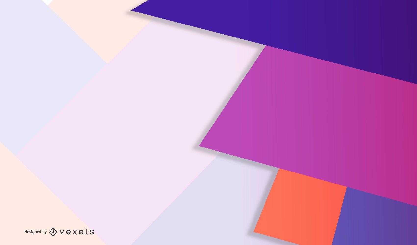 Diseño geométrico vibrante pastel