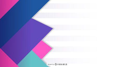 Diseño geométrico de triángulo superpuesto