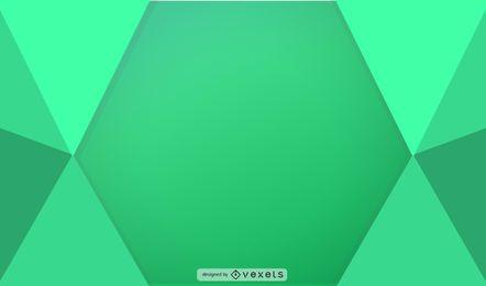 Ilustração geométrica verde