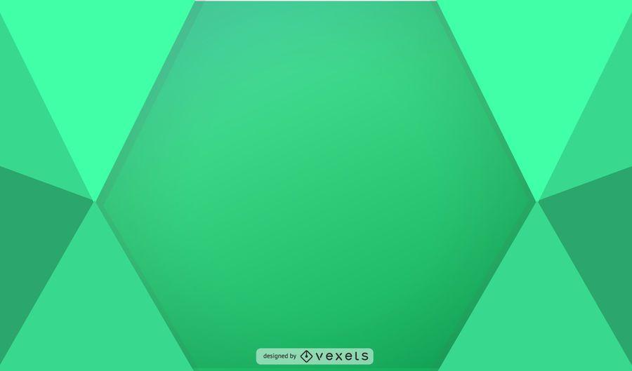 Ilustración geométrica verde