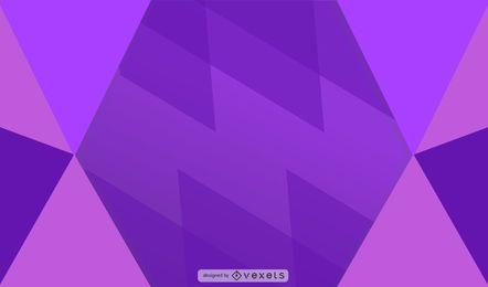 Diseño geométrico fondo púrpura