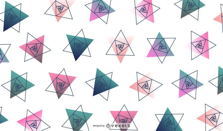 Ilustração do projeto geométrico de triângulo