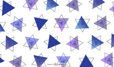 Ilustração de design geométrico triangular
