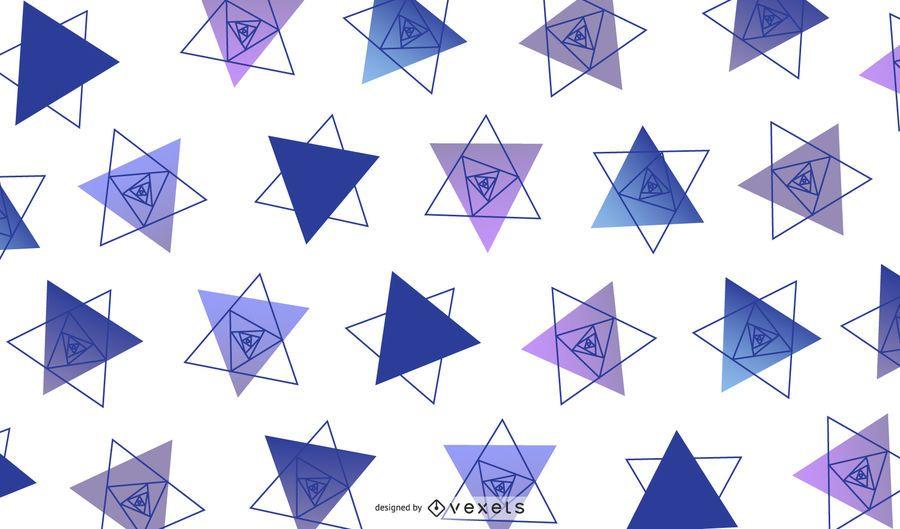 Dreieckige geometrische Design-Illustration