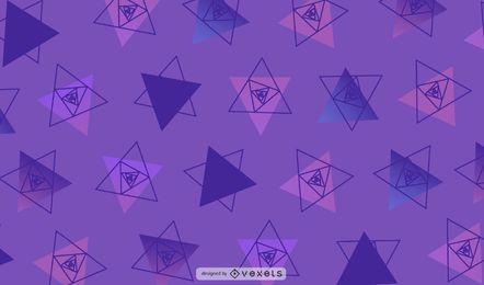 Ilustração de fundo do triângulo geométrico