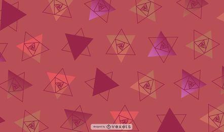 Ilustración de triángulos geométricos rojos