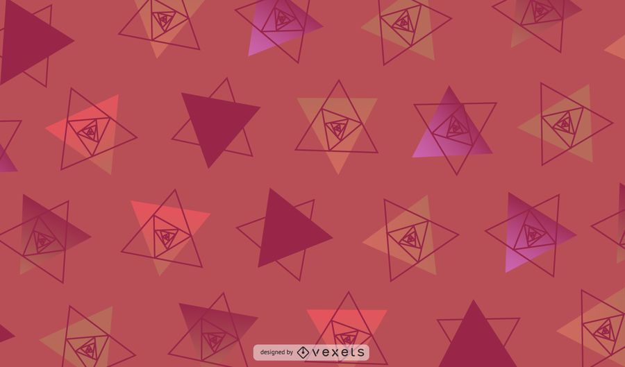 Ilustração geométrica vermelha dos triângulos
