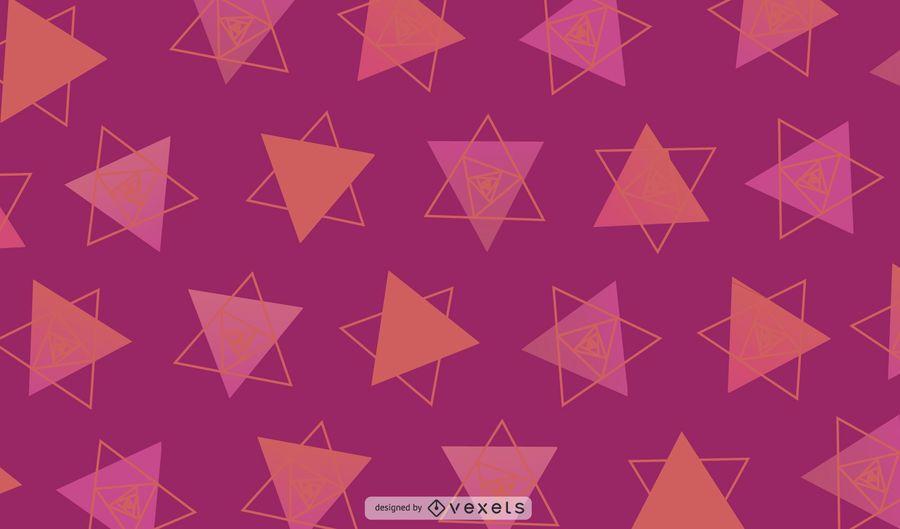 Diseño geométrico centrado en triángulos