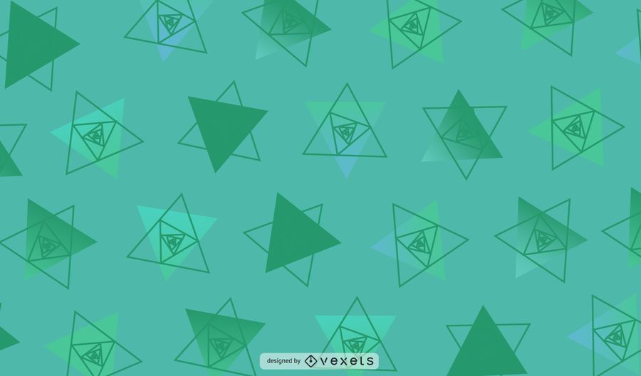 Grüne geometrische Dreieck-Illustration