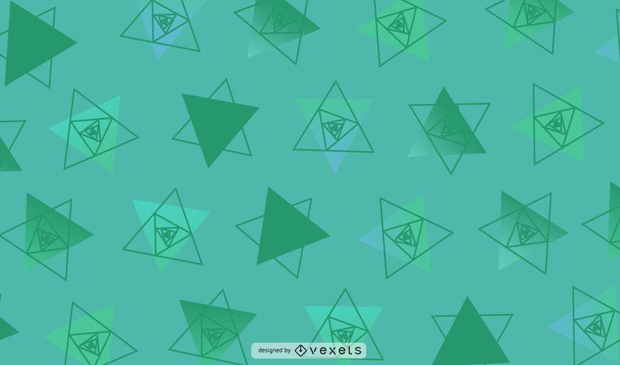 Ilustração geométrica verde dos triângulos