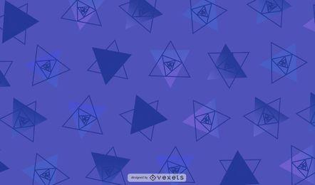 Ilustración geométrica de triángulos geométricos