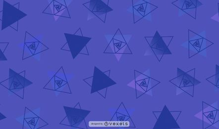 Purple Geometric Triangles Illustration