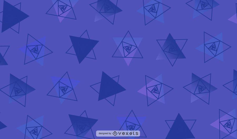 Ilustração geométrica roxa dos triângulos