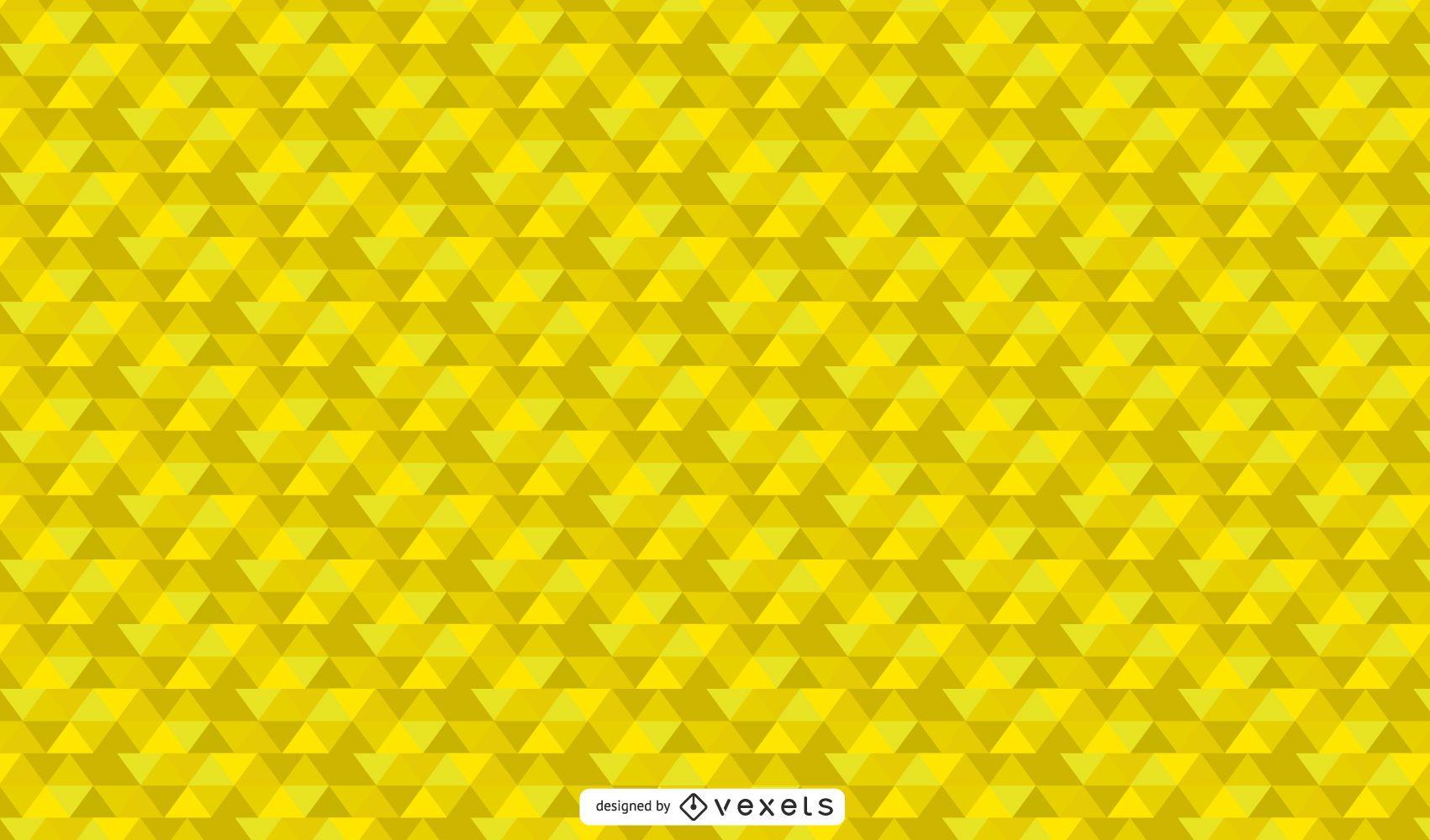 Papel pintado abstracto geométrico amarillo vibrante