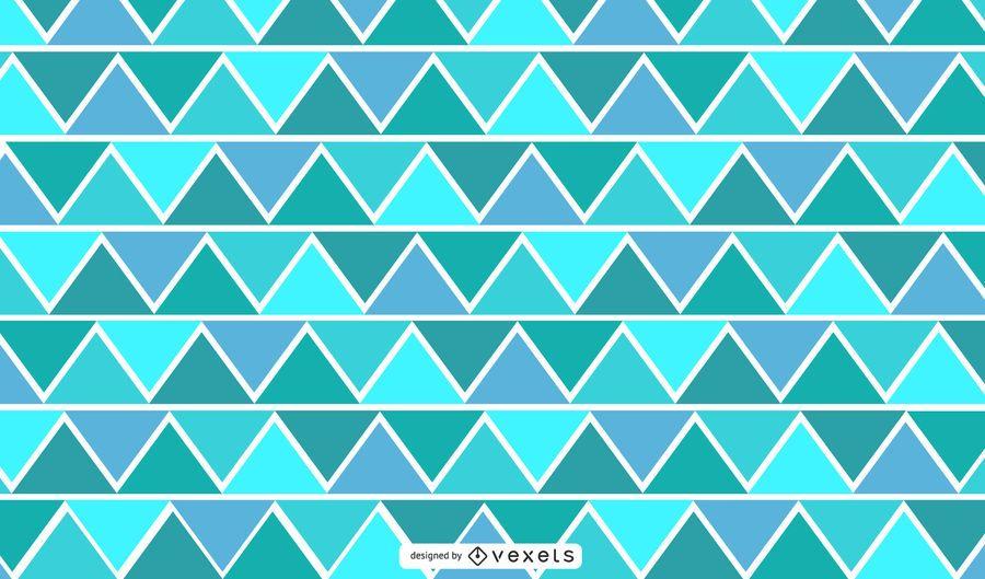 Ilustração geométrica triangular do ziguezague