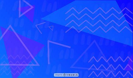 Ilustración geométrica en zig-zag
