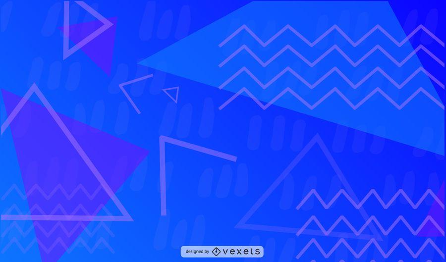 Ilustração geométrica de Zig-Zag