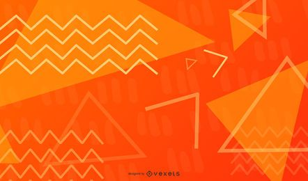 Triangle and Zig-Zag Geometric Illustration