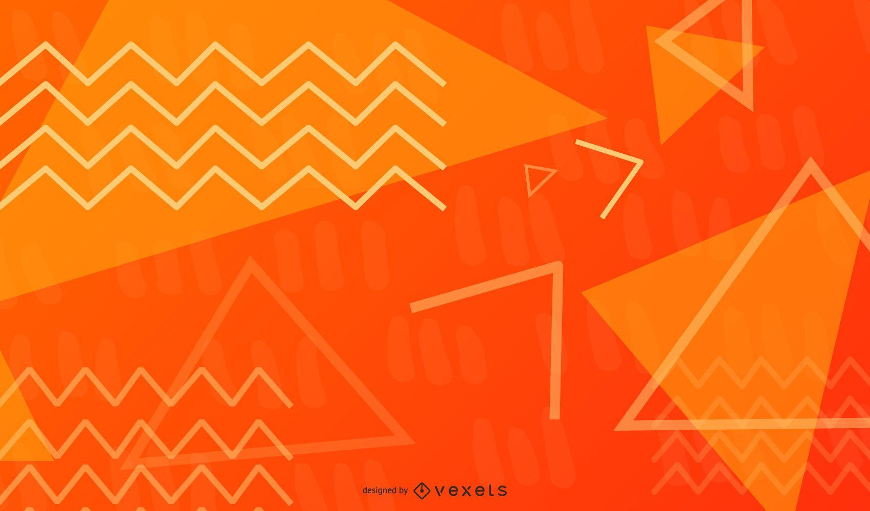 Triangle and Zig-Zag Geometric Illustration