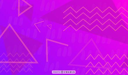 Desenho geométrico roxo Zig-Zag