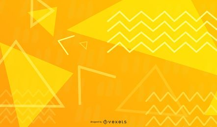 Yellow Zig-Zag Abstract Design