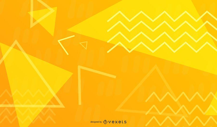 Design abstrato em ziguezague amarelo