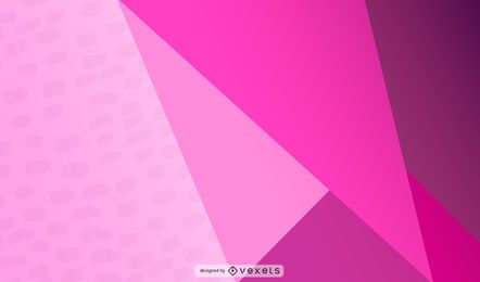 Design Abstrato Triangular Rosa