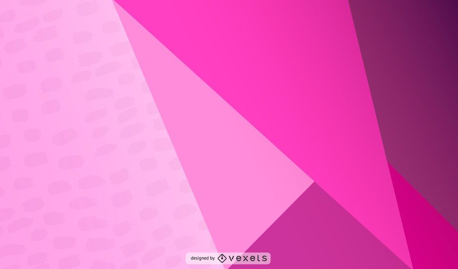 Pink Triangular Abstract Design
