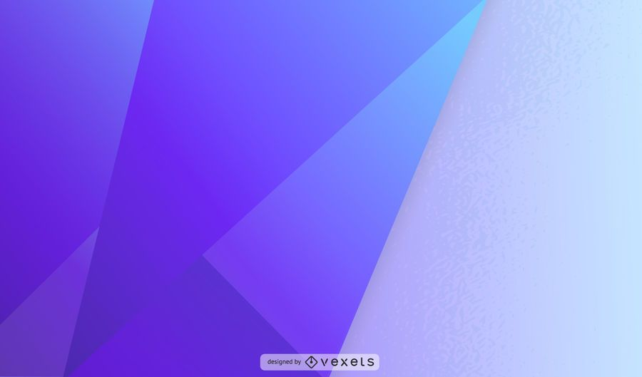 Purple Geometric Overlapping Shape Illustration