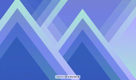 Triángulo abstracto y la ilustración geométrica