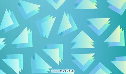 Diseño geométrico superpuesto triangular