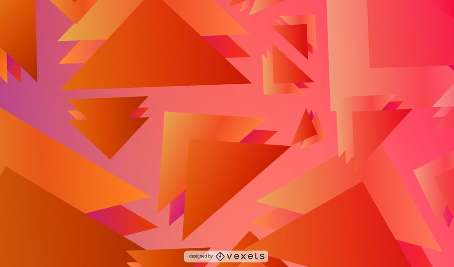 Overlapped triangles background design