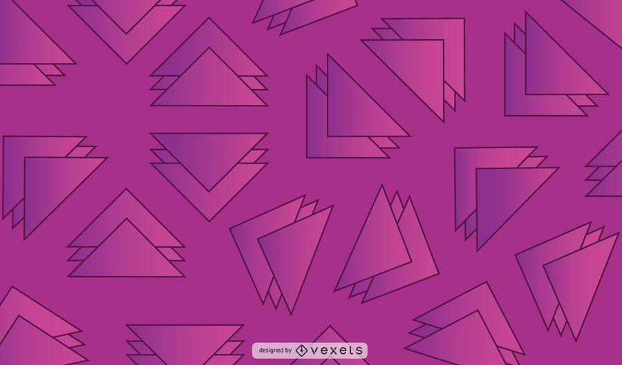 Fondo geométrico del triángulo
