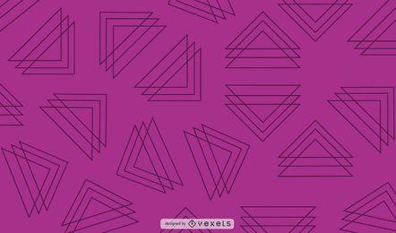 Diseño de fondo púrpura de triángulos de línea