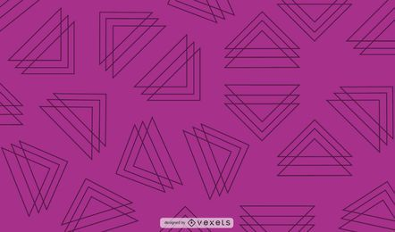 Line triangles purple background design