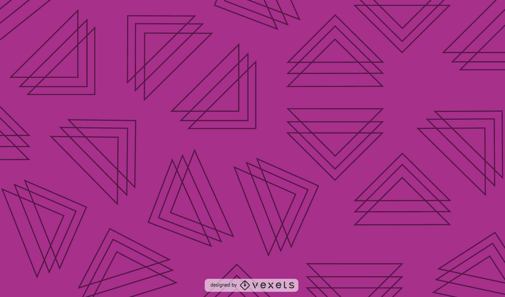 Line triangles purple background design