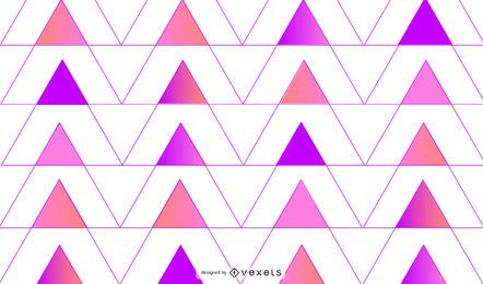 Fundo geométrico de triângulos rosa roxos