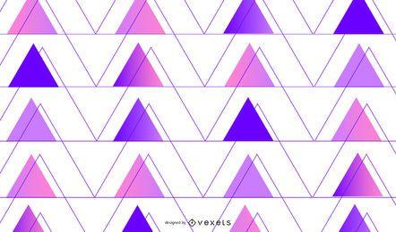 Fundo gradiente roxo triângulos