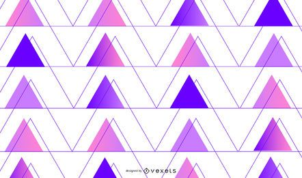 Gradient purple triangles background